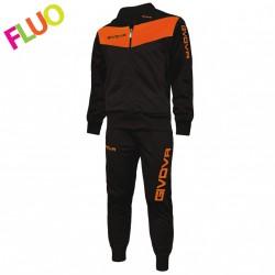 Chandal Givova Tuta Visa Color Negro /Naranja Fluor